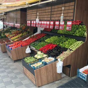 Obst und gemüse schragen