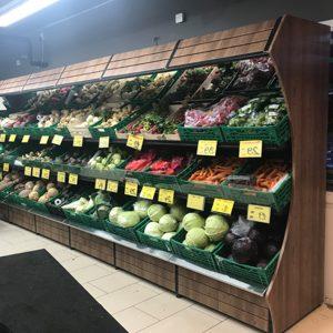 Obst und Gemüseschragen