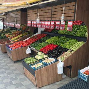 Rayon De Fruits Et Légumes En Bois
